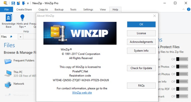 WinZip Pro 24 Crack, Activation Code 2019 [32/64 Bit] {Latest}
